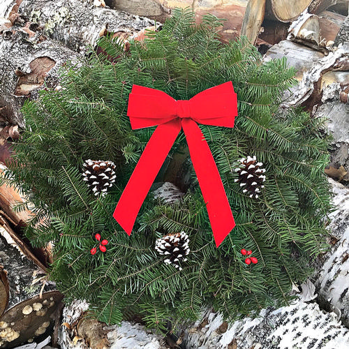 Traditional Small Balsam Wreath - 18 inch