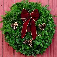 Burgundy Cone Wreath - #2 Most Popular